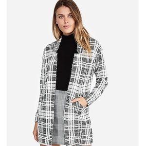 Plaid Tailored Knit Blazer